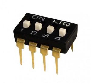 DIP Switch IC x4 Czarny l=40szt