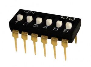 DIP Switch IC x6 Czarny l=29szt
