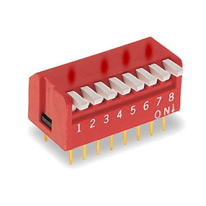 DIP Switch Piano x8 Czerwony l=22szt