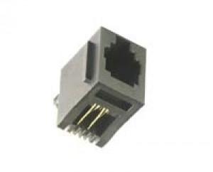 Gniazdo 4P4C pionowe h=16mm opak=100 szt