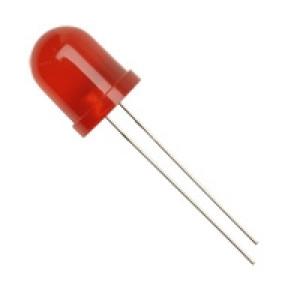 Dioda LED 10mm Czerwona, matowa opak=100 szt