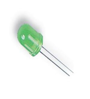 Dioda LED 10mm Zielona, matowa opak=100 szt