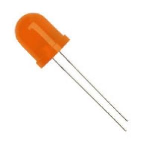 Dioda LED 10mm Pomarańczowa, matowa opak=100 szt