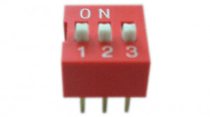 DIP Switch x3 Czerwony l=53szt