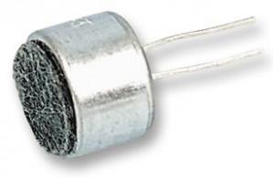 Mikrofon 40-44db fi=6mm h=5mm PCB