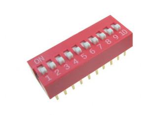 DIP Switch x10 Czerwony l=17szt