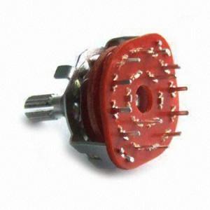 Przełącznik obrotowy PCB 3 pozycje 4 obwody