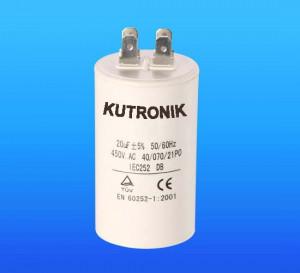 Kondensator silnikowy 10uF/450VAC z konektorami
