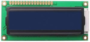 Wyświetlacz LCD 2x16 80x36mm niebieskie podświetlenie typ2