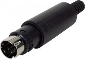 Wtyk MINI-DIN 4pin montowany na kabel