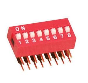 DIP Switch kątowy x8 Czerwony l=21szt