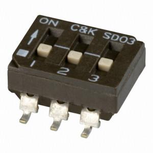 DIP Switch IC SMD x3 Czarny l=52szt