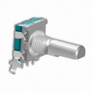 Enkoder 20 impulsów l=20mm z przyciskiem EC11 poziomy