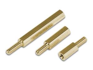 10mm Mosiężne z gwintem M4 Z/W opak=100 szt