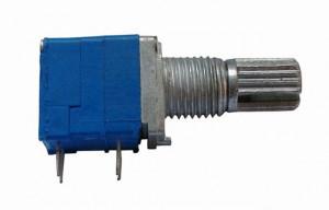 Potencjometr obrotowy 9x11 2x 500K Ohm B (liniowy) l=15mm