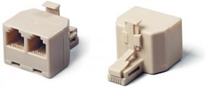 Adapter telefoniczny RJ11/RJ12 6P4C wtyk --> 2 x gniazdo