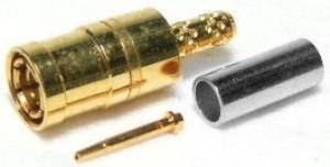 Złącze żeńskie SMB 50 Ohm proste zaciskane na kabel