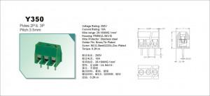 AK 3.50mm h=8.5mm 3pin (-) zielone opak=100 szt