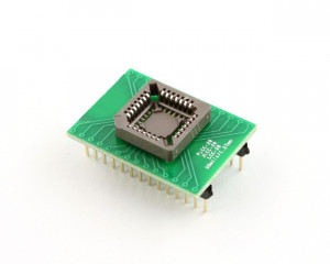 Adapter z PLCC32 na DIL28 szeroka
