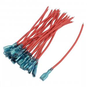Kabel z konektorem żeńskim 6.3mm opak=100 szt