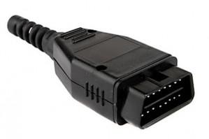 Wtyk OBD2 męski na kabel