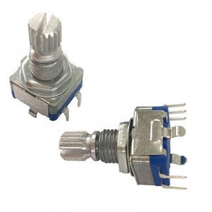 Enkoder 20 impulsów l=12mm z przyciskiem EC11 pionowy