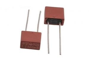 Bezpiecznik kubkowy 6.30A 250V r=5.08 zwłoczny prostokątny