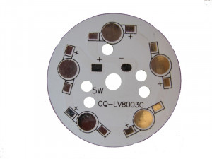 Płytka aluminiowa/radiator 5 LED d=49mm