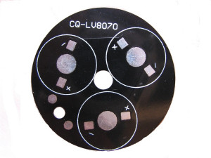 Płytka aluminiowa/radiator 3 LED d=49mm czarna
