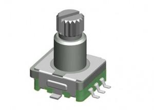 Enkoder 20 impulsów l=12mm z przyciskiem EC12 SMD