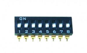 DIP Switch IC SMD x8 Czarny l=22szt