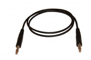 Przewód pomiarowy do miernika 2x bananki wtyk-wtyk czarny