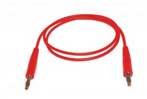 Przewód pomiarowy do miernika 2x bananki wtyk-wtyk czerwony