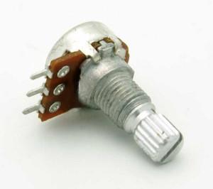 Potencjometr obrotowy mini 1K Ohm B (liniowy) l=15mm