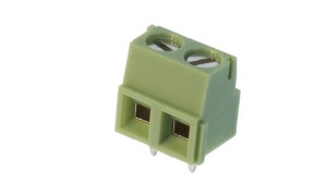 AK 5.00mm h=17mm 2pin (-) zielone opak=100 szt