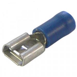 Konektor izolowany żeński 6.3mm niebieski opak=100 szt