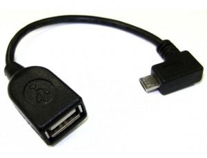 Adapter OTG wtyk Micro USB kątowy --> gniazdo USB A