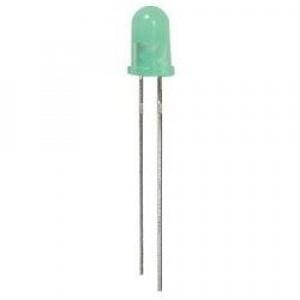 Dioda LED 5mm Zielona, matowa opak=100 szt
