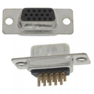 Gniazdo D-SUB 15/3 pin lutowane na kabel opak=100 szt