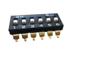 DIP Switch IC SMD x6 Czarny l=29szt
