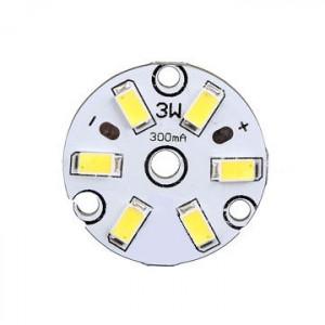Moduł 6 LED 5630 3W 9-11V d=32mm biały