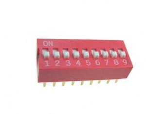 DIP Switch x9 Czerwony l=19szt