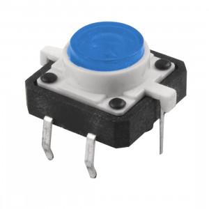Tact Switch 12x12mm h=7mm niebieskie podświetlenie