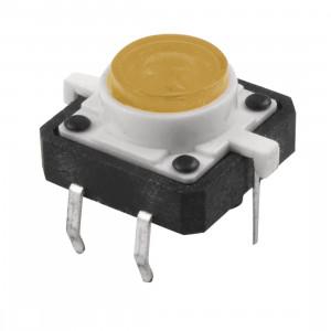 Tact Switch 12x12mm h=7mm żółte podświetlenie