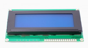 Wyświetlacz LCD 4x20 98x60mm niebieskie podświetlenie