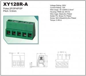 AK 5.00mm h=14mm 2pin kątowe zielone opak=100 szt
