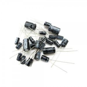 Zestaw 120 szt kondensatorów elektrolitycznych