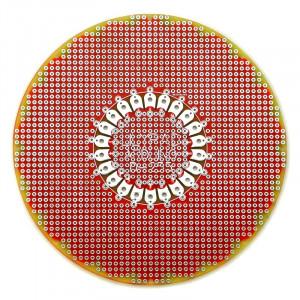 Płytka uniwersalna Arduino okrągła 12cm PA07