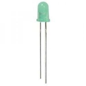 Dioda LED 5mm Zielona, matowa 10mcd opak=100 szt