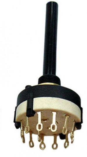 Przełącznik obrotowy 3 pozycje 4 obwody do obudowy